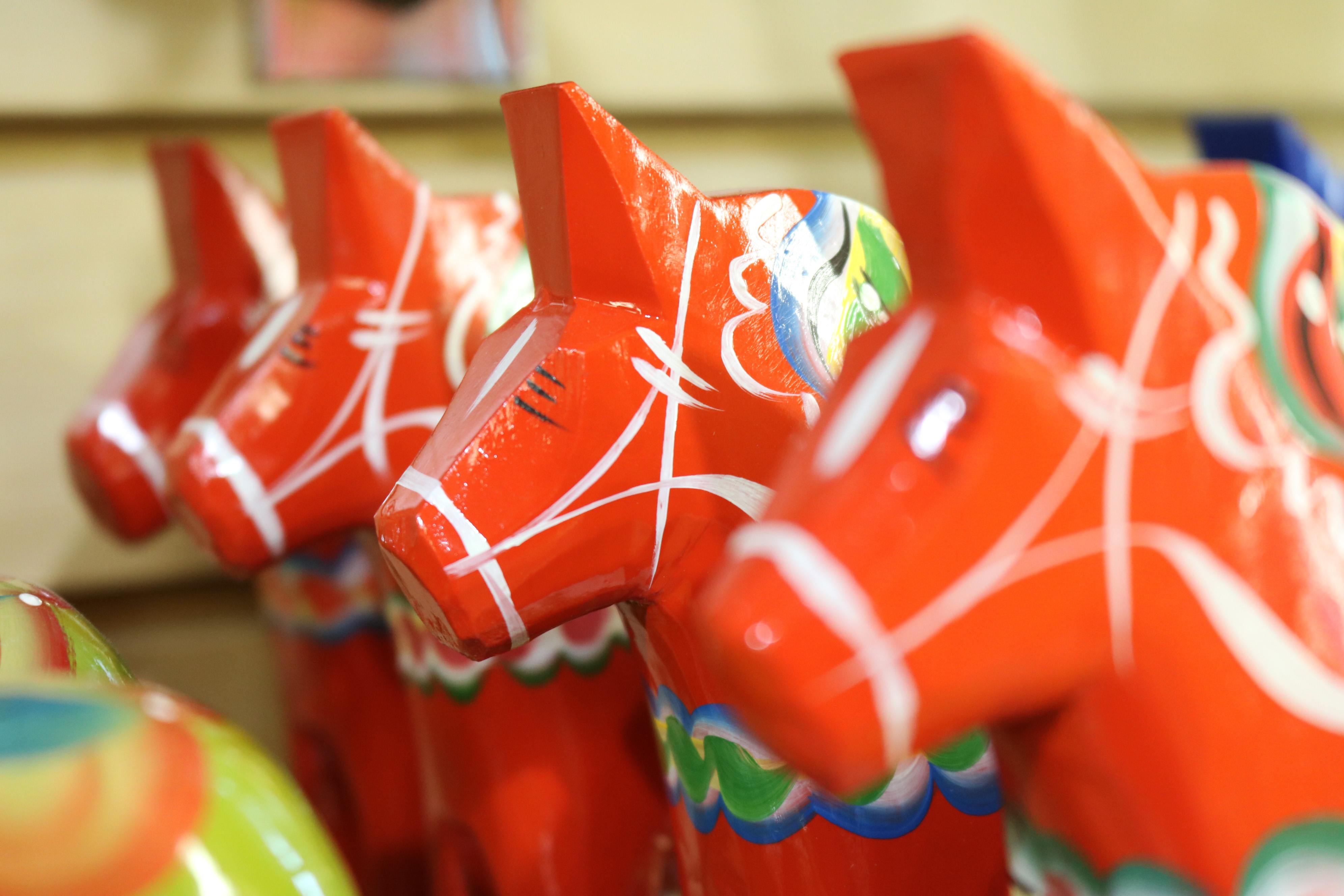 Traditional Red Dala Horses