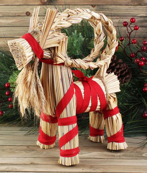 Christmas Goat.Hemslojd Swedish Gifts 12 Inch Julbock Straw Christmas Goat
