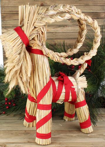 Christmas Goat.Hemslojd Swedish Gifts 17 Inch Julbock Straw Christmas Goat