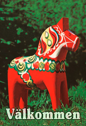 Garden Flag   Dala Horse