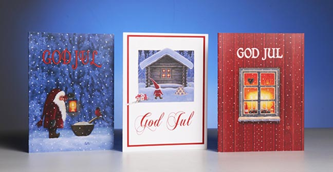 Christmas Notecards.Hemslojd Swedish Gifts Christmas Notecards God Jul Variety